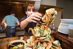 Crab at Camino. - BERT JOHNSON/FILE PHOTO