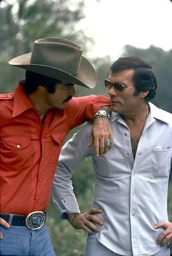 Burt Reynolds (L) and Hal Needham in The Bandit.