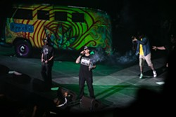 B-Real of Cypress Hill joined Berner on stage with a joint fashioned in the shape of a sword. - BERT JOHNSON