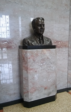 A statue in the lobby of the Rene C. Davidson Courthouse. - DARWIN BONDGRAHAM