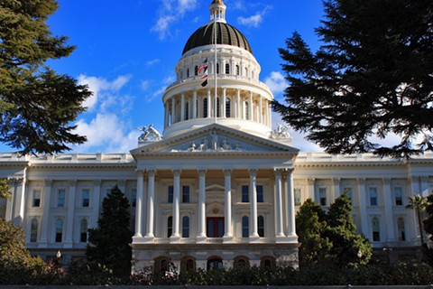 The California statehouse in Sacramento, site of the historic joint session on AUMA Tuesday.