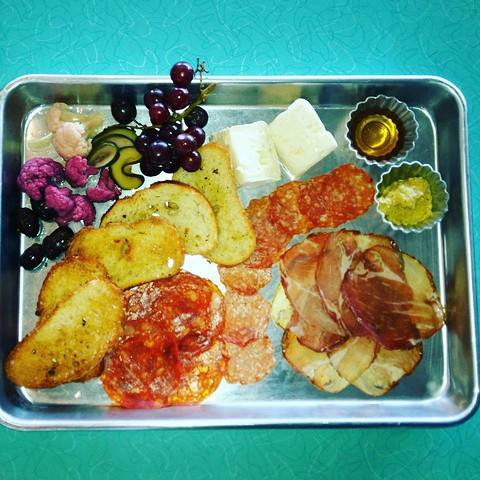 The charcuterie plate. - STAY GOLD DELI