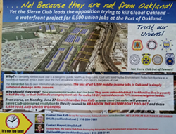 The Jobs 4 Oakland mailer sent out last week. - JOBS 4 OAKLAND