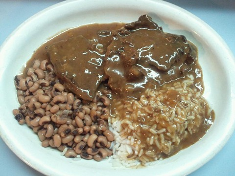 Last chance to get your smothered-steak fix. - NELLIE'S SOULFOOD RESTAURANT
