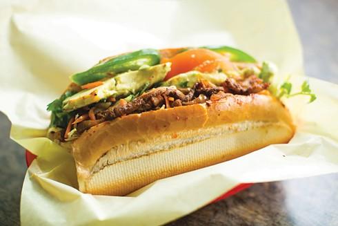 Best Cross-Cultural Mashup in Sandwich Form: Al Pastor Banh Mi. - PHOTO BY BERT JOHNSON /FILE
