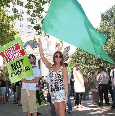 Cannabis legalization supporters report raising $11.45 million in California. - DAVID DOWNS