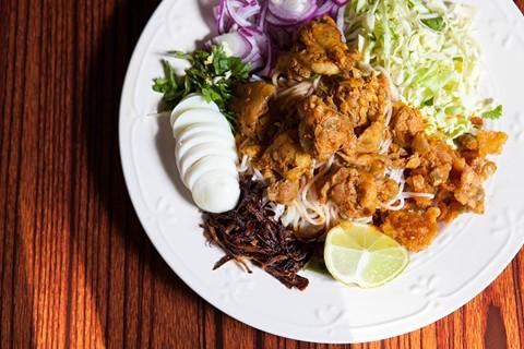 Nan gyi thoke at Grocery Cafe. - BERT JOHNSON/FILE
