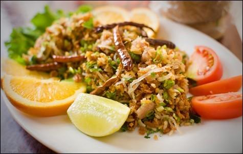 Rice ball salad at Vientian Cafe - CHRIS DUFFEY/FILE