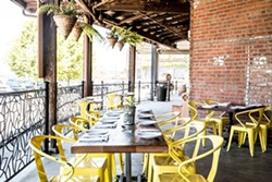 The patio at The Dock. - THE DOCK VIA FACEBOOK