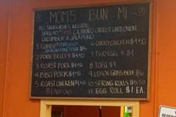 Menu at Mom's Bun Mi. - LUKE TSAI
