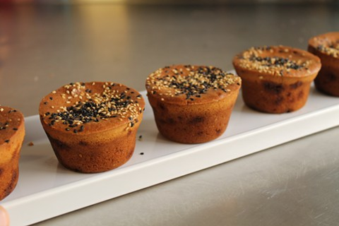The mochi muffins are crunchy and chewy. - SAM BUTARBUTAR