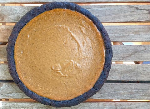 Pumpkin pie with chocolate crust. - PIETISSERIE, VIA FACEBOOK