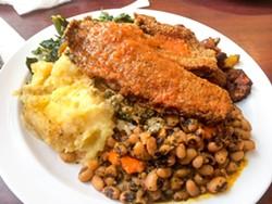 The tilapia plate at A Taste of Africa. - LUKE TSAI