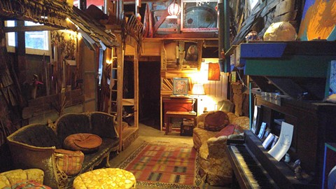 "One of the many rooms inside the Ghost Ship warehouse, which people described as a giant ""maze."" - COURTESY OF GHOST SHIP'S WEBSITE"