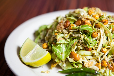 Grocery Cafe's vaunted tea leaf salad. - BERT JOHNSON/FILE PHOTO