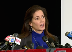 Oakland Mayor Libby Schaaf at a press conference in December, following the devastating Ghost Ship fire that killed 36 people.