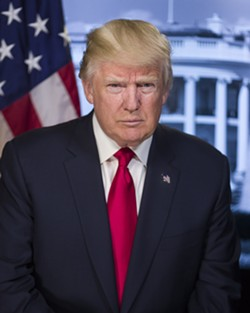 Trump's official portrait from the White House website. - WHITEHOUSE.GOV