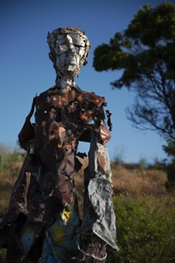 A scrap-metal sculpture artwork at Albany Bulb. - MICHAEL SCHICK