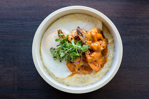 Shrimp and grits at Drip Line. - NICK WOLF