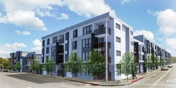 Artist rendering of 3250 Hollis Street when it's finally completed in 2018. - MADISON PARK.