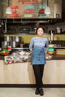 Nite Yun at her Public Market food stall. - ANDRIA LO