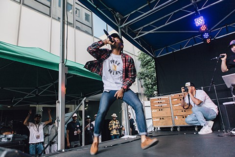 Caleborate at the 2015 Oakland Music Festival - PHOTO CREDIT: AMIR CLARK