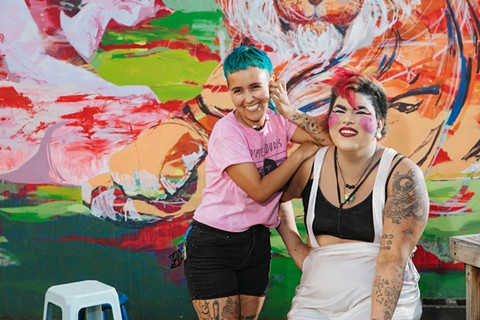 Hella Vegan Eats co-owners Silvi and Tiff Esquivel. - PHOTO BY ANDRIA LO