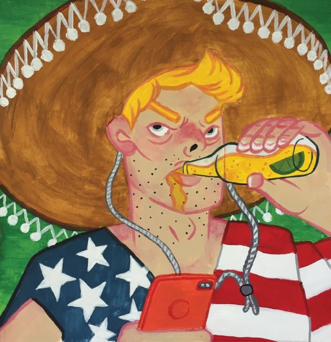 Don't be this guy on Cinco De Mayo - ILLUSTRATION BY RAISA YAVNEH