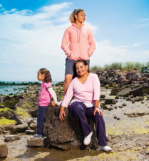 An East Bay physician prescribed an outdoors adventure in Alameda to Ana Muñoz and her daughters, Anahi and Raquel, earlier this month. - PHOTO BY SAM ZIDE