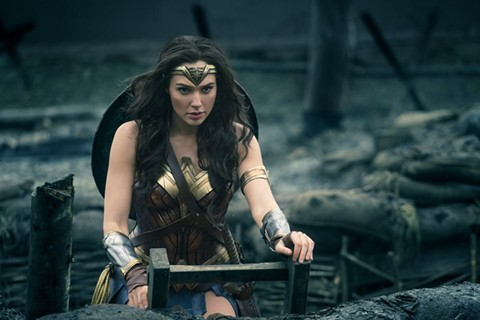 Gal Gadot in Wonder Woman, a superhero movies starring and directed by women. Finally!