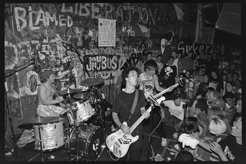 Green Day performs at Gilman in 1992. - PHOTO BY MURRAY BOWLES