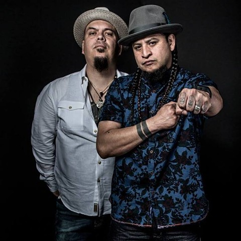 Juan Manuel Caipo (left), and MC Deuce Eclipse - PHOTO CREDIT: ODELL HUSSEY PHOTOGRAPHY