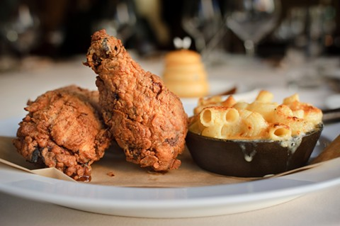 Picán's Southern fried chicken and mac 'n' cheese, as photographed by the Express in 2009. - FILE PHOTO BY CHRIS DUFFEY