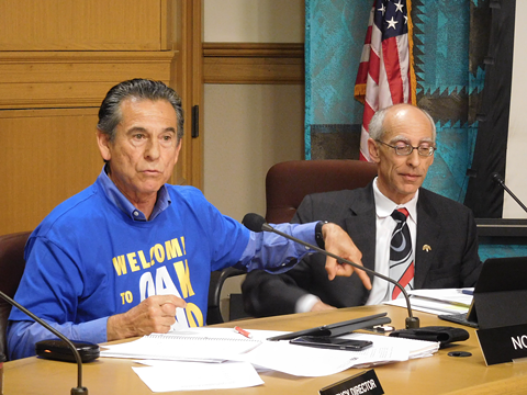 Councilmember Noel Gallo (right) and Dan Kalb co-sponsored the ballot measure to establish the new police commission.