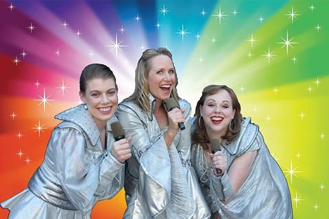 Joy Sherratt (center) with Leandra Ramm and Krista Wigle. - PHOTO BY KATHY KAHN