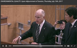 Gov. Jerry Brown made a rare appearance at yesterday's committee meeting.