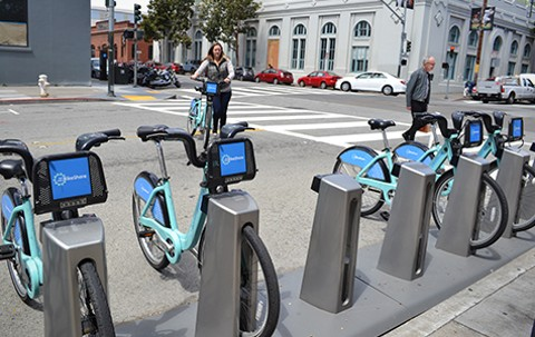 Bike stations are slated to open in San Francisco, Oakland, Berkeley, Emeryville, and San Jose.