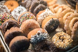 Dream Fluff Donuts: A classic Berkeley breakfast. - PHOTO BY DARRYL BARNES