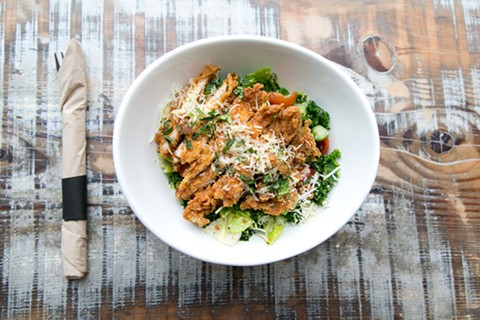 Fried chicken meets kale salad. - COURTESY OF PROPOSITION CHICKEN
