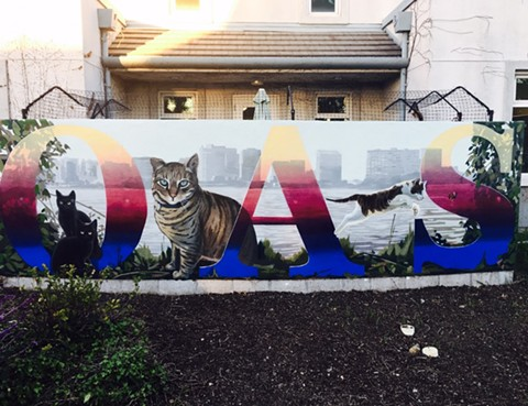 A mural outside of Oakland Animal Services. - LAUREL HENNEN VIGIL