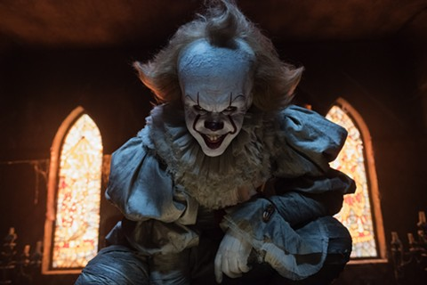Bill Skarsgard as Pennywise, perhaps the creepiest clown ever.