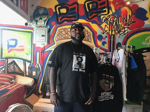 Mistah F.A.B at his Dope Era Clothing store in North Oakland.