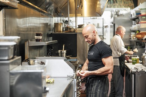 Chef Alessandro Campitelli at work in his open kitchen. - PHOTO BY ANDRIA LO