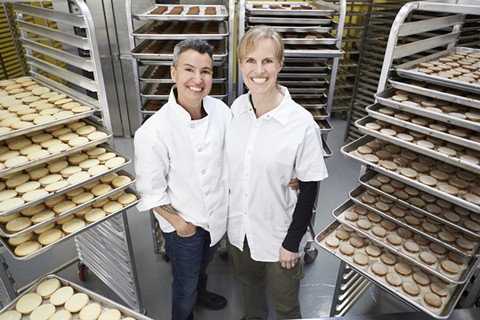 Andreas (left) and Citabria Ozzuna at Wooden Table's commercial bakery. - PHOTO COURTESY OF LUIS COSTADONE