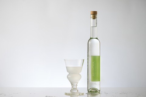 A new look for absinthe. - PHOTO COURTESY OF ABSINTHIA'S BOTTLED SPIRITS