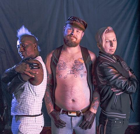 Manarchy performers Jet Noir, Jan Tanner, and Jesi Ringofire. - PHOTO BY KALA MINKO