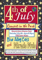 Emeryville's 4th of July Concert in the Park!