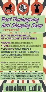Anti-Shopping Swap at Awaken Cafe!