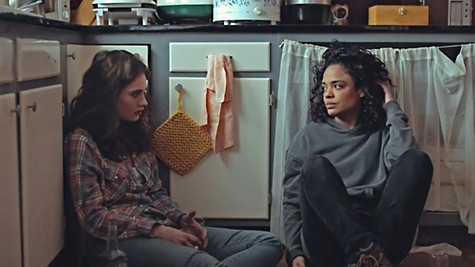 Lily James (left) and Tessa Thompson are up against it in Little Woods.