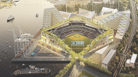 The proposed ballpark at Howard Terminal passed a legislative hearing.